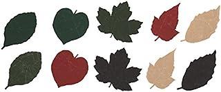特殊な和紙で作られた軽くて風合いの良い栞 SIWA(シワ) 葉っぱのしおり 10枚セット