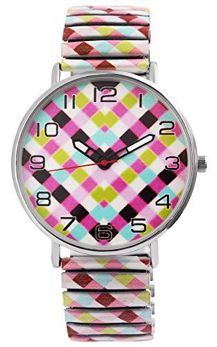 Donna Kelly Damenuhr Muster Grafik Zugband Zugarmband Analog Quarz Armbanduhr