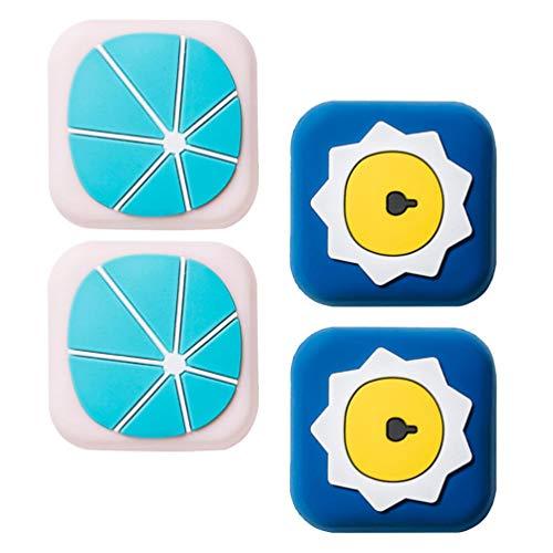 VOSAREA 4Pcs Türstopper Wandschutz Selbstklebende Türstoßstangen Türknauf Wandschutz Anti Crash für Kinderzimmer Möbel Tischschrank