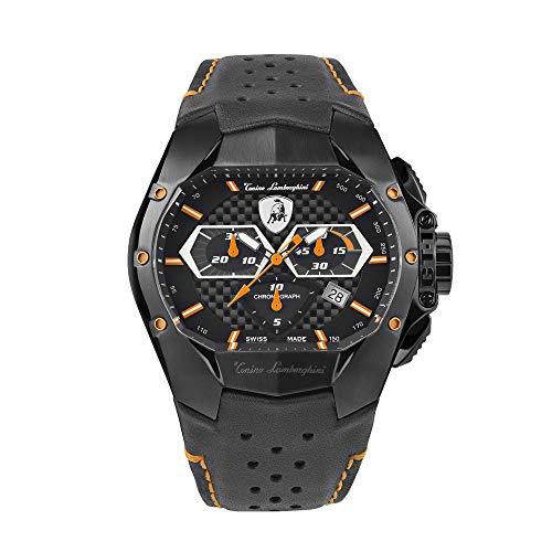 Tonino Lamborghini GT1 Reloj cronógrafo naranja carbono T9GB