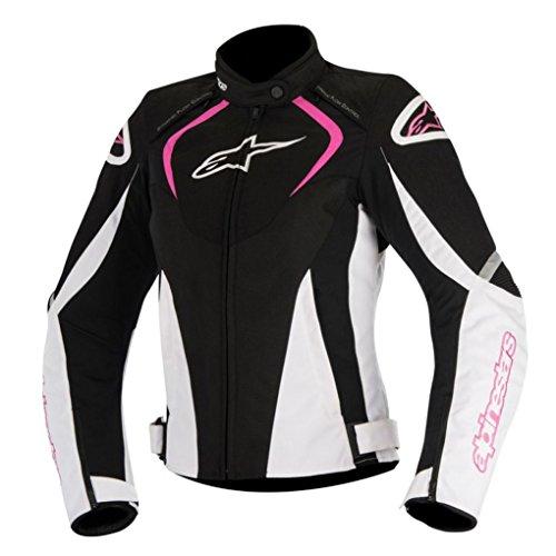 Alpinestars Stella T-jaws - Chaqueta de moto impermeable (talla L), color negro y fucsia