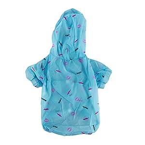 Ellepigy Été Bleu Chiot Chemises d'Été Combinaison Protection Solaire Vêtements Chien Protection Contre Le Soleil Manteau