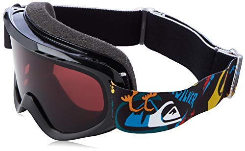 Quiksilver Flake-Snowboard/Esquí Máscara para Niños 2-7, True Black ski Fun, 1SZ