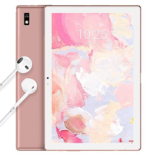 Tablet 10 Pollici Blackview Tab 9 Tablet Android 10,Batteria 7480mAh,Octa-Core 4G LTE Dual SIM+5G WiFi Tablet in Offerta,Fotocamera 13MP,1200*1920 FHD+IPS,4+64GB,128GB Espandibili,Face ID,OTG-Oro rosa