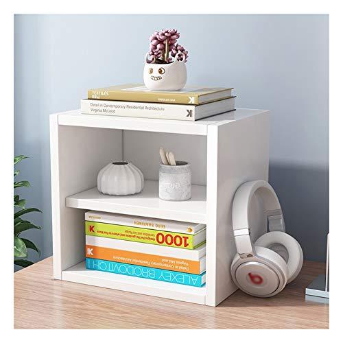 Boekenkast plank Vierkante houten boekenplank Gratis combinatie boekenkast eenvoudige opbergkast met deur kleine kast, L34.5cm × D 29.5cm × H34.5cm boekenkast (Color : Without door)