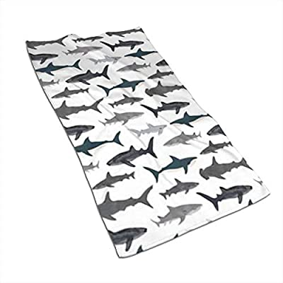 Sharks Nautical Boys Kitchen Towels - Dish Cloth - Machine Washable Cotton Kitchen Dishcloths,Dish Towel & Tea Towels for Drying,Cleaning,Cooking,Baking