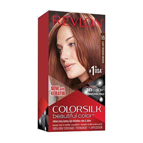Revlon ColorSilk Tinte de Cabello Permanente Tono #55 Castaño Rojizo Claro