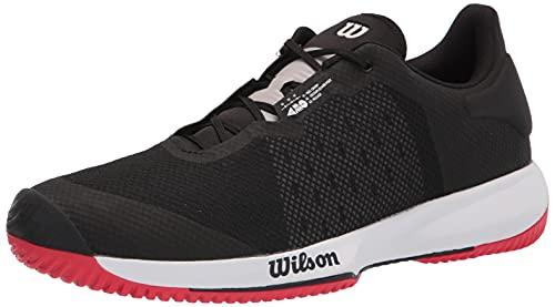 Wilson Scarpe da tennis per uomo, KAOS SWIFT, Nero/Celeste/Rosso, 42, Per tutte le superfici, Per tutti i tipi di giocatori, WRS327530E080
