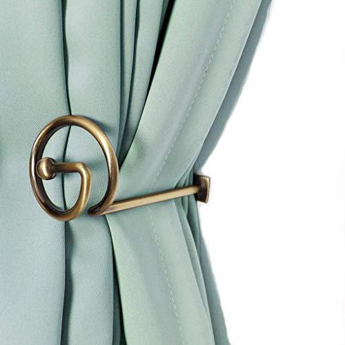 Chimei - Set di 2 tendaggi decorativi per finestra, in metallo, colore: Bronzo