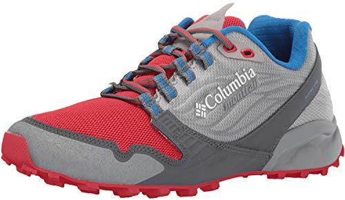 Columbia Men's Alpine FTG Sneaker, Monument, Bright red, 12 Regular US