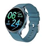 Smart Watch, orologio da uomo, donna, fitness tracker, monitoraggio della pressione sanguigna, misuratore di ossigeno nel sangue, cardiofrequenzimetro, impermeabile IP68 (Blu)