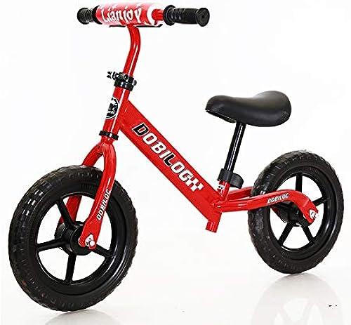 GSDZN - Kinder Laufrad Lernlaufrad Balance Bike Leichtgewicht   H nverstellbar   Kohlenstoffstahlrahmen   Pneumatische Rad   2-6 Jahre   80-120cm   - 12 Zoll,D