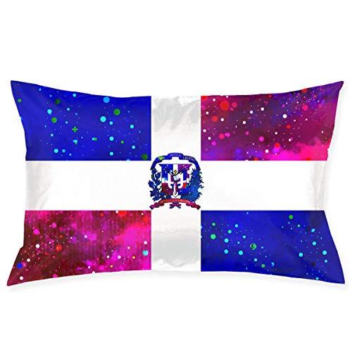 U Shape Kissenbezug Dominikanische Republik Flagge Sternenflagge Dekorativer Kissenbezug Weicher und Gemütlicher Kissenbezug mit Verstecktem Reißverschluss 20X30 Zoll