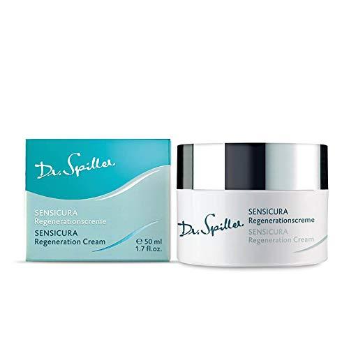 Dr. Spiller SENSICURA Regenerationscreme | Anti-Aging-Creme mit Hyaluronsäure | Lipidgehalt 30% | Für hypersensible Haut | Stützt das Bindegewebe und mindert Fältchen | Ohne Silikone und Parfümöle
