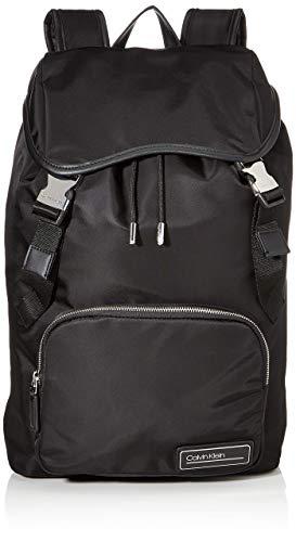 Calvin Klein Herren Primary Backpack W Flap Schultertasche, Schwarz (Black), 0.1x0.1x0.1 centimeters