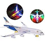 Kawosh A380 Avion Jouet pour Enfants Airbus Modèle Jouet Avion Avion Électrique avec Lumières Clignotantes Sons pour Enfants Guys Filles De Noël
