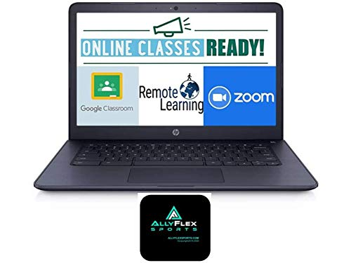2020 HP Chromebook 14-inch Laptop Computer for Business Student Online Class/Remote Work, AMD A4 Processor, 4 GB RAM, 32 GB eMMC Storage, Chrome OS, WiFi, Bluetooth 4.2, 10 Hrs Battery+AlleFlex MP