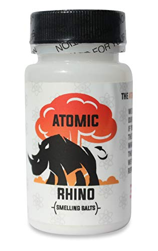 Atomic Rhino Smelling Salts for Athletes 100's of Uses per Bottle Explosive Workout Sniffing Salts for Massive Energy Boost Just Add Water to Activate Pre Workout