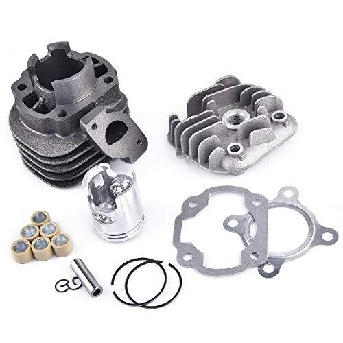 Kit de cilindro con pistón de 10 mm, repuesto para motor Jog Zuma Vino de 2 tiempos, 50 cm³, Minarelli 1E40QMB
