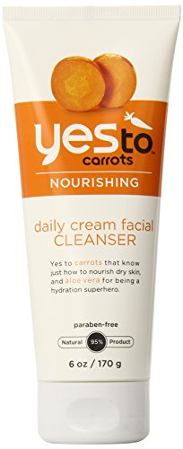 Yes To Carrots Daily Cream Facial Cleanser, 6 Fluid Ounce by Yes To Inc. [Beauty] (English Manual)