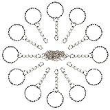 Habett Portachiavi Key Chain, 60 Pezzi Anelli per Chiave spaccati Anelli, 25mm Argento Tono Zigrinato Portachiavi Catena per Fai da Te lucidatura dei Metalli