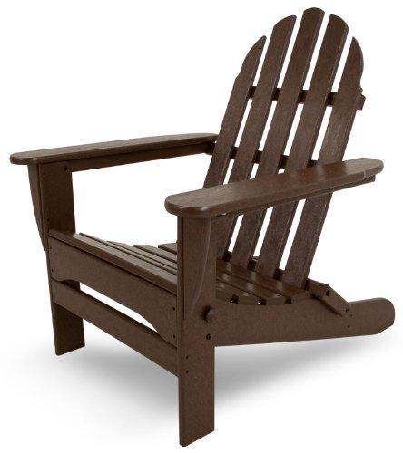 POLYWOOD AD5030MA Classic Folding Adirondack Chair, 35.00' x 29' x 35.00', Mahogany