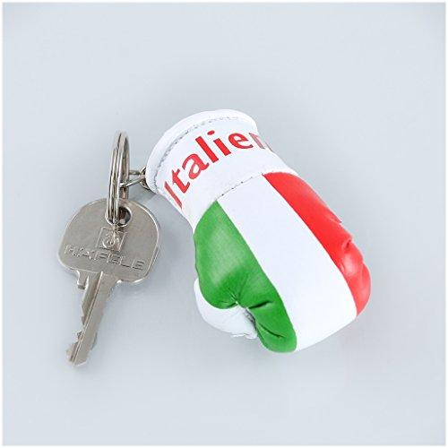 Sportfanshop24 Schlüsselanhänger/Anhänger für Schlüssel - Italien - Boxhandschuh mit Schlüsselring, 7 cm groß