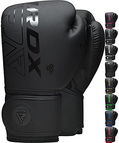 RDX Kinder Boxhandschuhe für Muay Thai und Training, Maya Hide Leder Kara Junior Punchinghandschuhe für Kampfsport, Kick Boxen, Sparring, Boxsack, MMA, Sandsack Boxing Gloves (MEHRWEG)