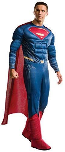 Batman vs Superman Superman Deluxe Costume Men's corresponding height...