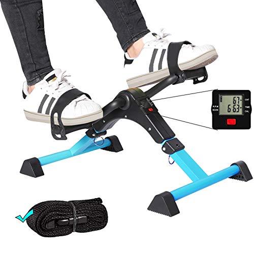 ZIRANYU Pedal Exerciser, Under Desk Bike Pedal Exerciser, Desk Pedal Exerciser Elliptical Machines for Home Use ZP01 (Blue)