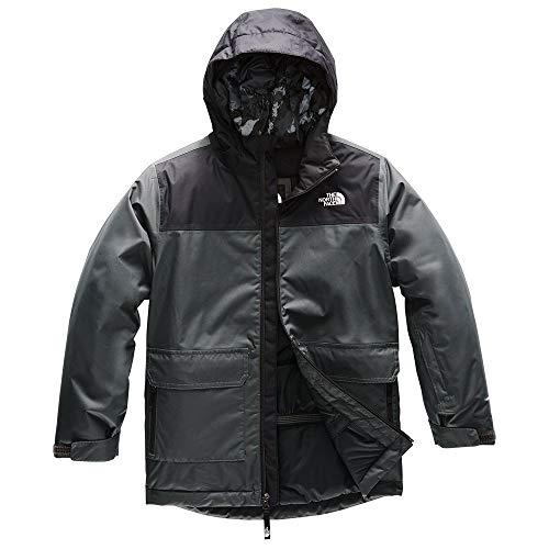 The North Face Boys' Freedom Insulated Jacket, Asphalt Grey, L