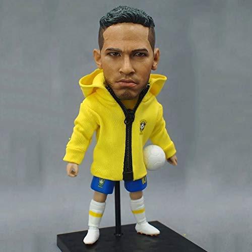 CQ Figura de acción de la Estrella de fútbol Neymar 1/6 del colector de Equipo Nacional de fútbol de Brasil/Objetos de colección for Ventilador de fútbol/decoración del Tablero de Instrumentos for