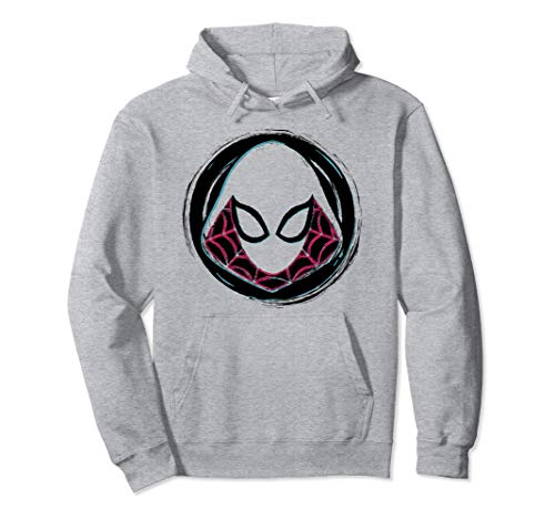Marvel Spider-Gwen Face Symbol Badge Hoodie