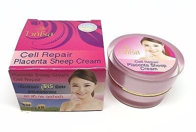 3 Units X White Rose Whitening Cream Placenta Sheep Extra Cell Repair Collagen Plus 12g.