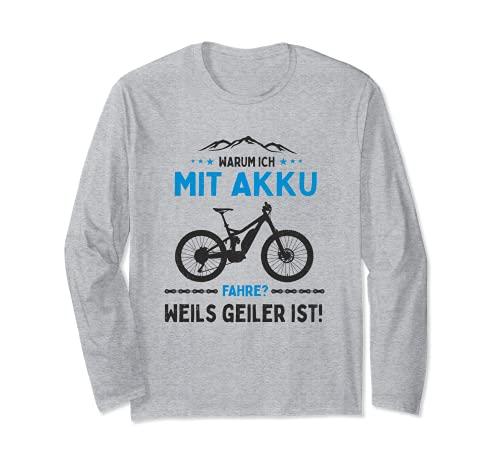 ¿Por qué comprarme con batería? Bicicleta eléctrica de montaña E-MTB. Manga Larga