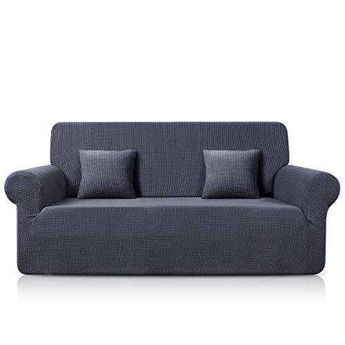 TAOCOCO Sofa Überwürfe Jacquard Sofabezug Elastische Stretch Spandex Couchbezug Sofahusse Sofa Abdeckung in Verschiedene Größe und Farbe (Grau, 3-sitzer(180-230cm))