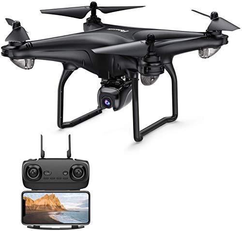 Potensic D58 Drone GPS con Cámara HD 1080P FPV, 5G WiFi Transmisión, RC Quadcopter 120 Ángulo para Niños y Adultos, Ajustable 90 ° Lente, Sígueme, Modo Órbita, Tiempo de Vuelo 15 Minutos