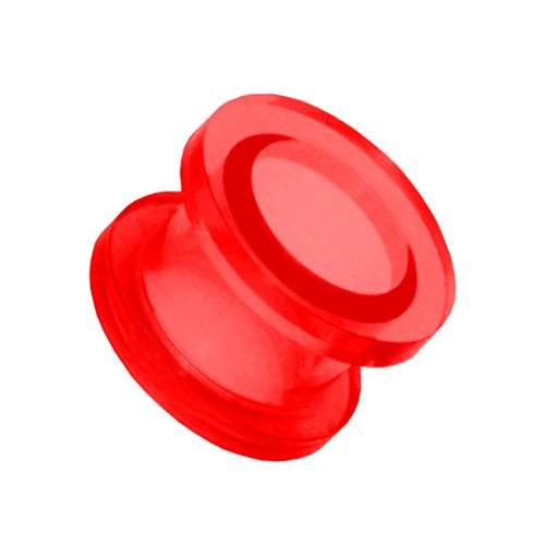 1x Expansor Túnel Flesh Tunnel Plug Piercing Oreja Acrílico Pendientes Dilataciones 2 3 4 5 6 8 10 12 mm, Farbe2:rot/red/rouge - 10mm
