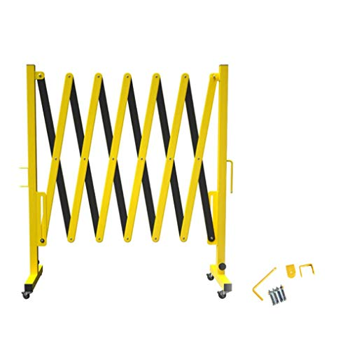 Crowd Control Warehouse Expandable Metal Barricade, 11 Feet, Mobile Safety Barrier Gate, Retractable Traffic Fence