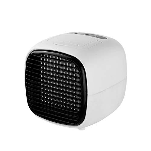 Qinmao Tragbarer Luftkühler Befeuchten , Kanallose Klimaanlage, USB-Schnittstelle Kleiner Desktop-Lüfter Zwei-Gang-Schlafsaal-Bürotisch-Luftkühler(Color:Weiss)