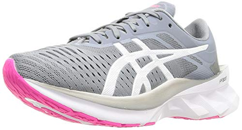 ASICS Womens Novablast Ladies Running Shoes Runners Lace Up Grey/Black 7