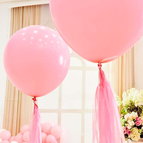 5PCS Large Pink Balloons 36 Inch Big Pink Balloons Giant Jumbo Latex Pink Balloons for Birthday Wedding Baby Shower Carnival Proposal Bachelorette Party Decorations