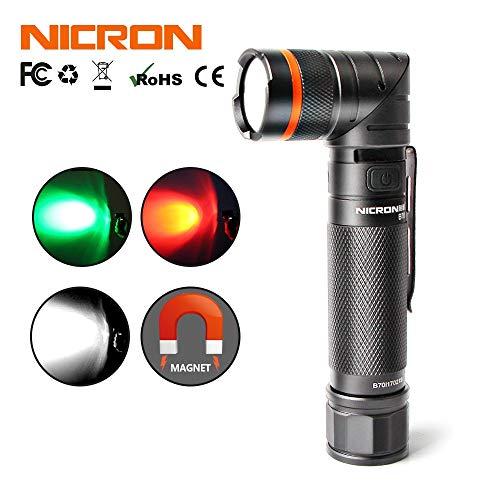 Linterna LED recargable de 90 grados de NICRON de color