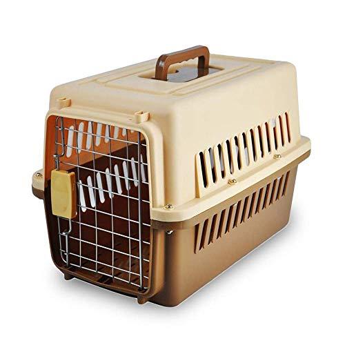 WEHOLY Mochila para Mascotas Pet Air Box Dog out Travel Suitcase Cat Box Outdoor Travel Portable Cat Cage Car Dog Cage Pet Shipping Box Bolsa para Mascotas (Tamaño: 66X47X53CM)