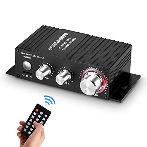 Mini Bluetooth audio versterker ontvanger stereo eindversterker remote USB muziekspeler