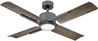 Modern Forms FR-W1806-56L-GH/WG Cervantes 56 Inch Four Blade Indoor/Outdoor Smart Fan with Six Speed DC Motor and LED Light in Graphite Finish Works with Nest, Ecobee, Google Home and IOS/Android App