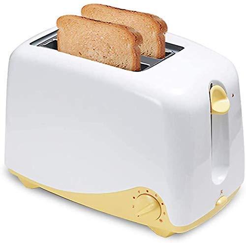 HYY YY Hogar de 2 rebanadas tostadora eléctrica automática Tostadora panificadora Maker con Cubierta de Polvo Pan Tostado Sandwich Grill Horno de hogar Desayuno
