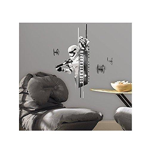 Hochwertiger Wandtattoo Tattoo Wand - kompatibel mit Star Wars - Storm Trooper - Stormtrooper - künstlerisch mit außergewöhnlichem Design macht die Wand zu einen echten Blickfang