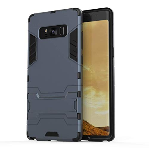CASSIEY Rugged Armor Shock Proof TPU + Poly Carbonate Back Cover Case for Samsung Galaxy Note 8 (Blue)