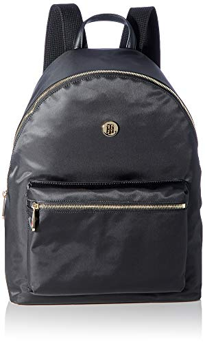 Tommy Hilfiger Poppy Backpack Solid, Bolsas. para Mujer, Negro, One Size